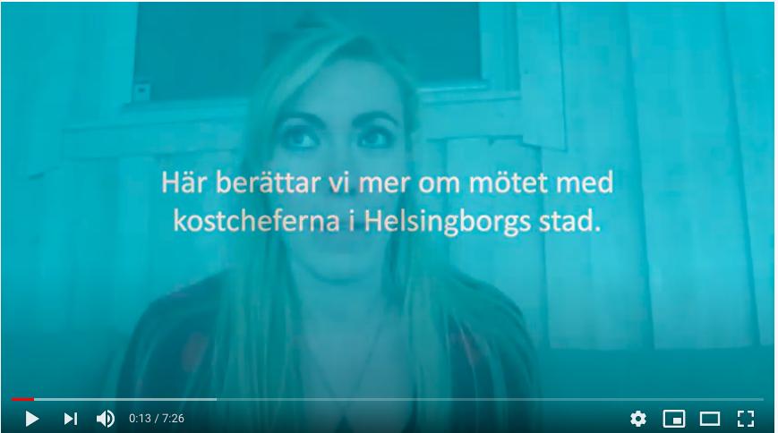 Om mötet med Helsingborgs kostchefer.